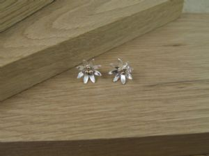 Daisy Earrings with 9ct Gold Detail